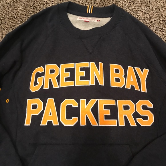 watch 3cf7a 2ae08 Green bay packers throwback sweatshirt SMALL